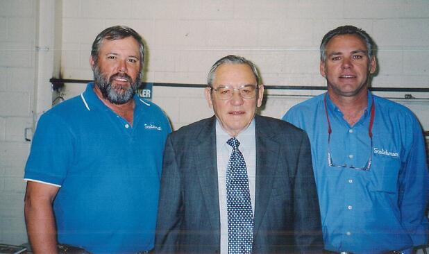 Art at 50 years of business, pictured with sons Bruce & Jerry in 2006