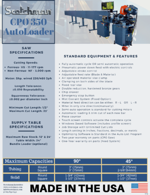 CPO 350 AutoLoader front flyer