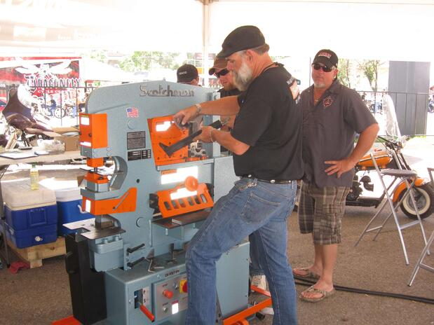 Jerry working an ironworker