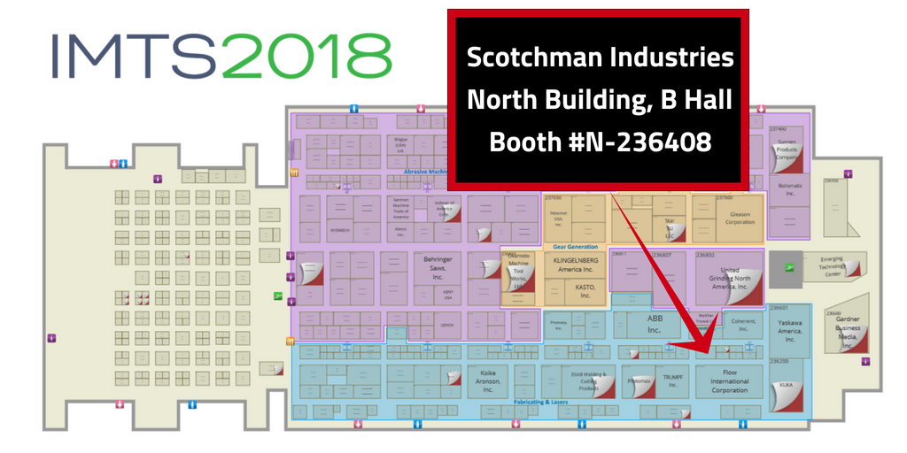 Scotchman Industries IMTS 2018 Map(2)
